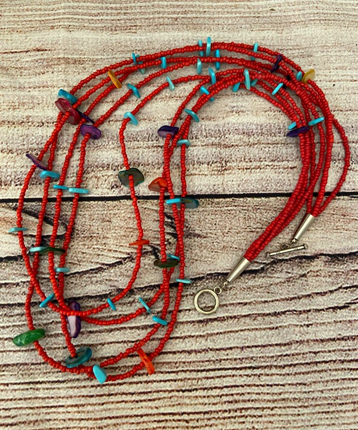 Bodaway Fire Maker Red Layered Necklace  (Click here for details)