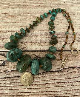 Chochokpi - Throne for the Clouds Hopi Turquoise Necklace
