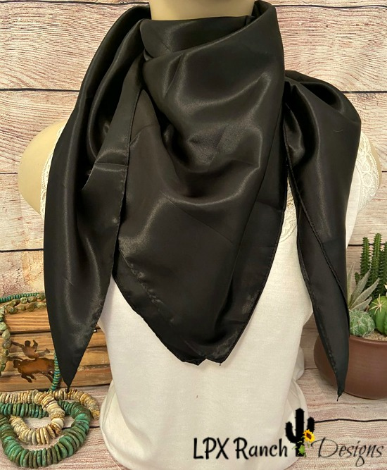 Black Wild Rag Scarf - All Seasons