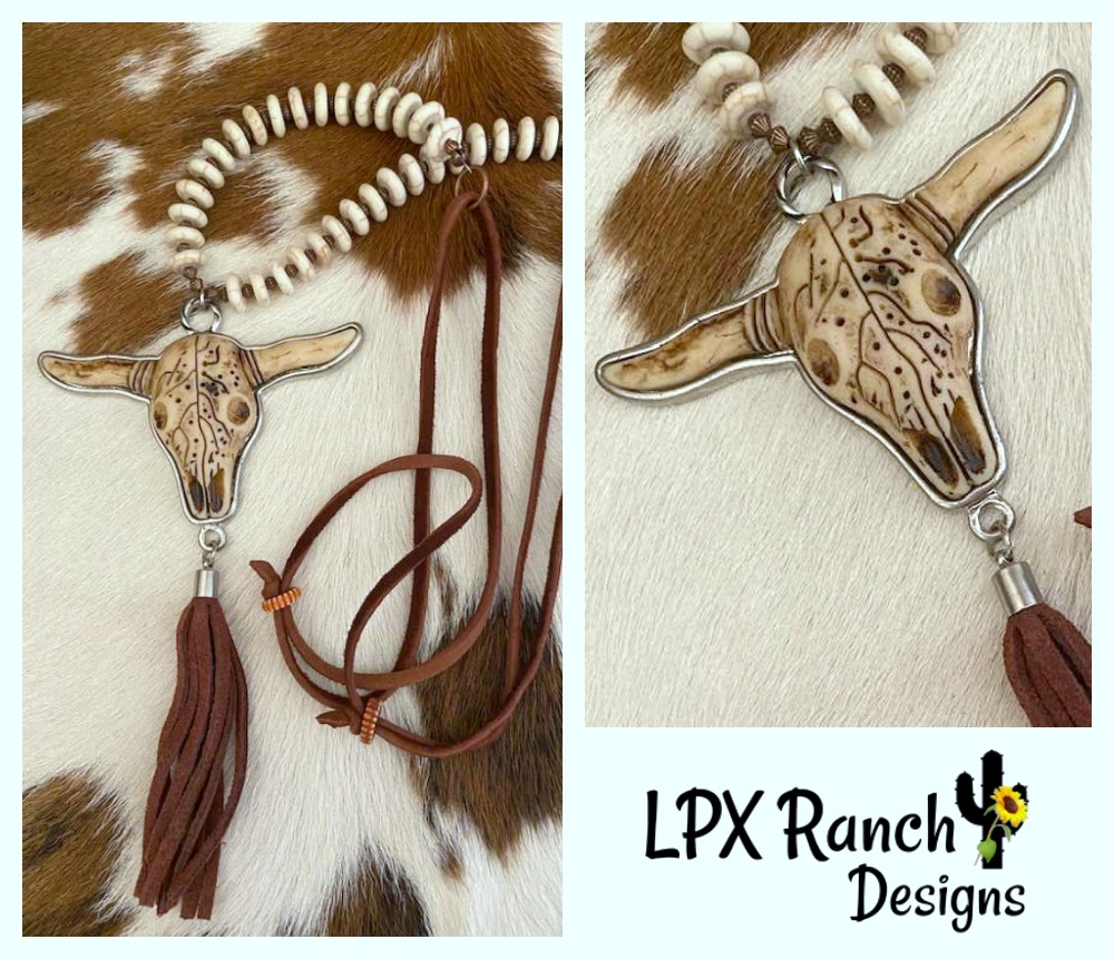 Longhorn Tibetan Pendant Necklace