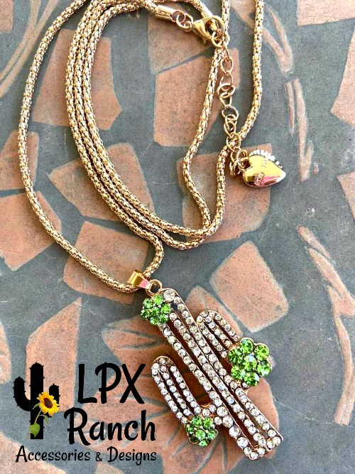 Sparkly Cactus Necklace