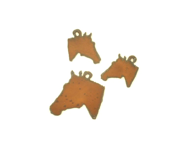 Rustic Metal Horse Head Pendant/Charm And Earring Components